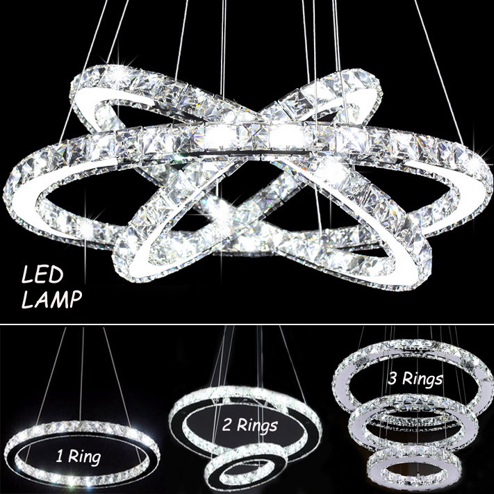 Diamond ring lamp aliexpress com buy modern chandelier for Lumiere suspension