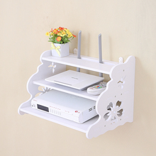 Creative home TV cabinet set top box frame Router shelf storage carrier Storage rack partition Pylons Wall hanging
