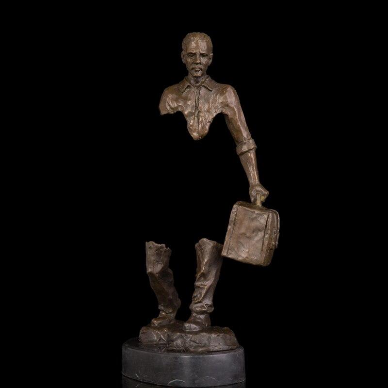 Медь бронза Статуи Абстрактный человек фигурка Traveller рисунок латунь скульптура Soul путешествие современный студия декора