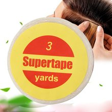 New 1 Roll 1cm*3 Yards Super Clear Hair Tape Strong Double Sided Adhesive Tapes For Hair Extension Lace Wig Toupee Pro Use