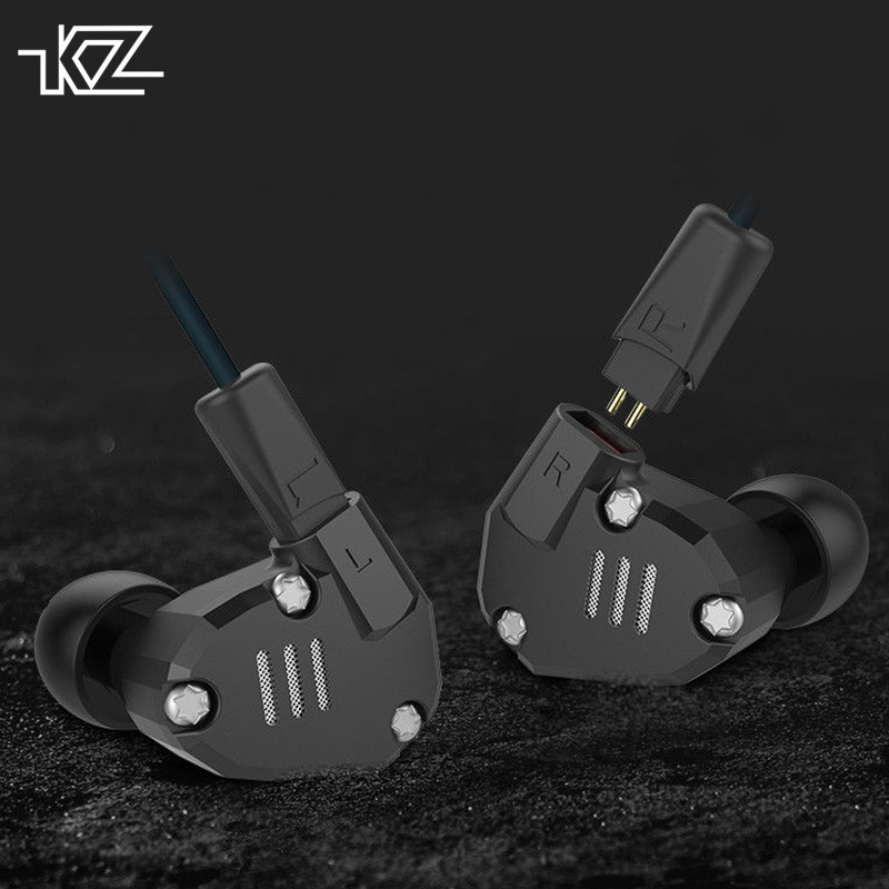 KZ ZS6 2DD+2BA Hybrid In Ear Earphone HIFI Stereo Running Sport Earbud Headset Bluetooth Three Colors kz zs6 2dd 2ba hybrid driver in ear earphone earbud zs5 upgraded iem hifi noise isolating stereo headset with microphone