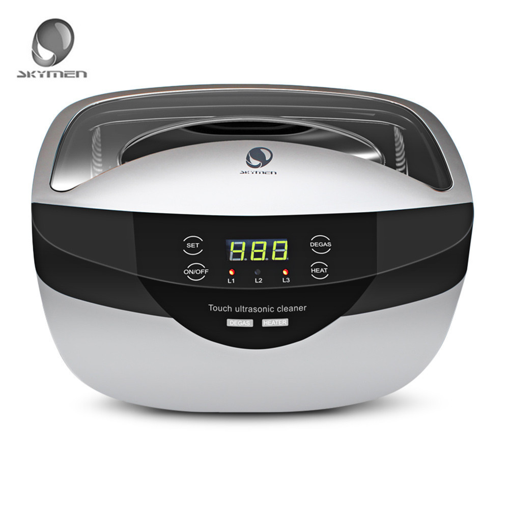 SKYMEN 2.5L portable Digital Ultrasonic Cleaner Basket Sterilizer jewelry Cleaner Nail Tools Disinfection Bath Machine 120W skymen ultrasonic cleaner 2l 80w bath digital ultrasound sonic cleaner basket sterilizer cleaner nail tools disinfection machine
