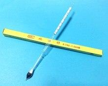 라이트 baume 유리 플로트 게이지 농도계 0.700 1.000 석유 액체 미터 습도계 고정밀 70 10 길이 250mm 5 pcs