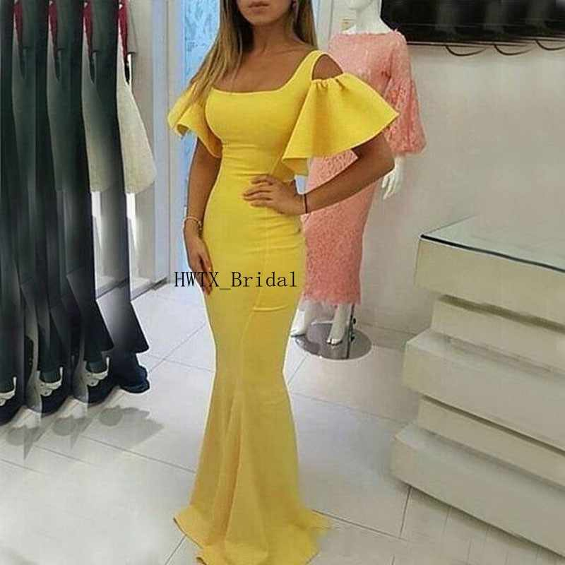 3b722dd6eacaf Detail Feedback Questions about Yellow Evening Gowns abiye gece ...