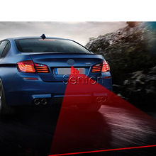 1X Car Red Laser Tail Fog Light For Nissan Qashqai X-TRAIL Juke TIIDA Note Almera March For Mazda 3 6 2 CX-5 CX5 CX-7