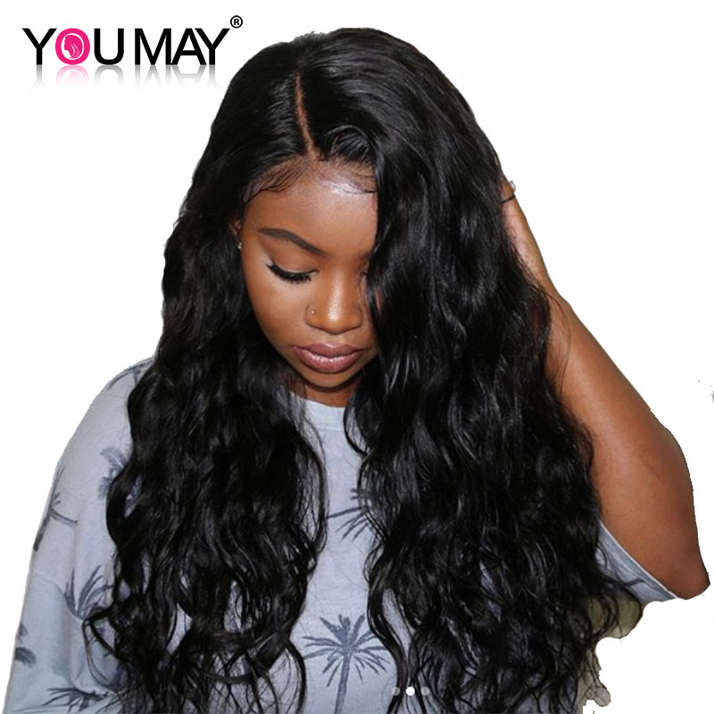Full Lace Human Hair Wigs Glueless Full Lace Wigs Pre Plucked With Baby Hair Brazilian Body Wave 180% Density Remy You May