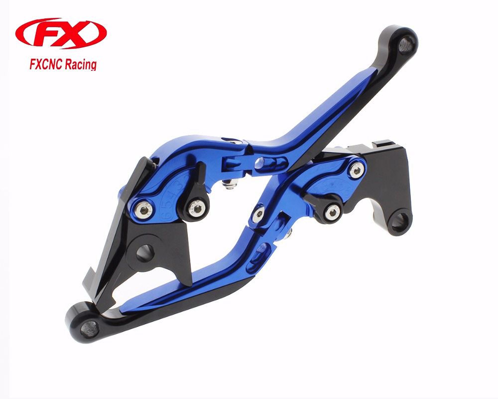 FX CNC Folding Extendable Motorcycle Adjustable Brake Clutch Levers for YAMAHA YZF R3 2014-2015 YZF R25 2015-2016