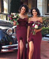 Plus Size Bridesmaid Dresses Long Burgundy Wedding Party Guest Dress Woman