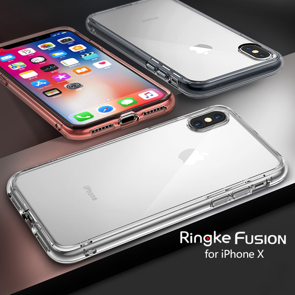 big sale ef6c7 ca3fa US $14.99 |Ringke Fusion Case for iphone X Case Clear PC Back and Soft TPU  Frame Hybrid Military drop tested-in Fitted Cases from Cellphones & ...