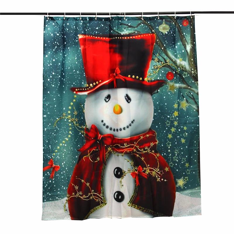 sonrisa patrn de sueo feliz navidad mueco de nieve mueco de nieve cortina de ducha impermeable