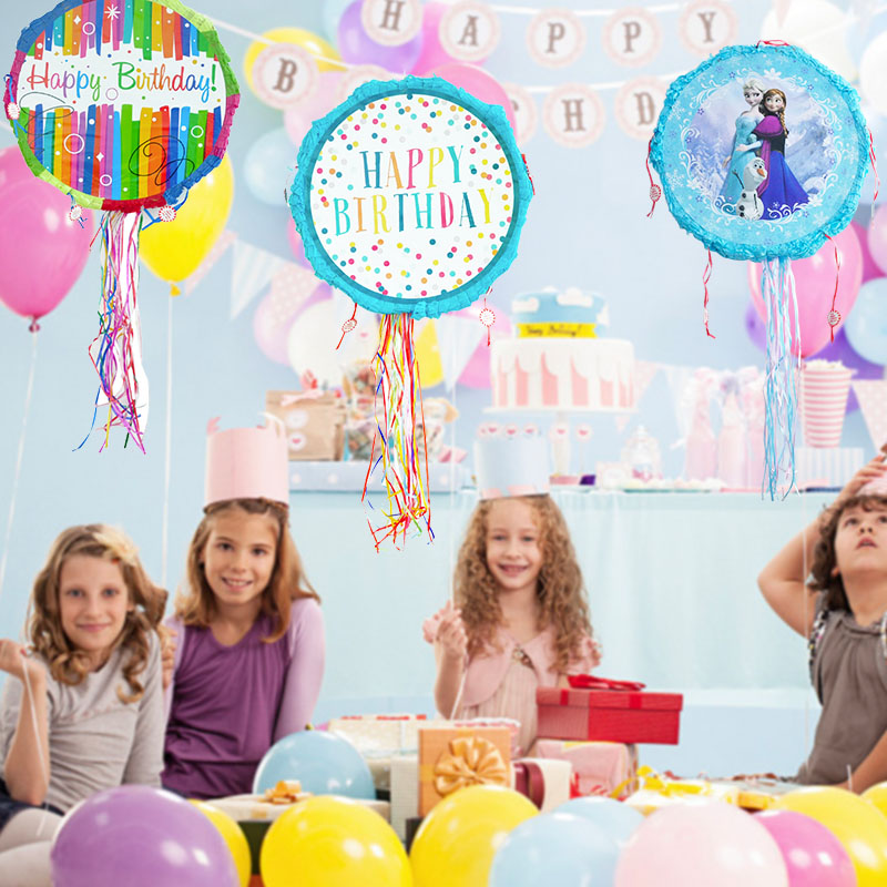 Happy Birthday Theme Paper Folded Pinata Kids Favors Game Gifts Toys