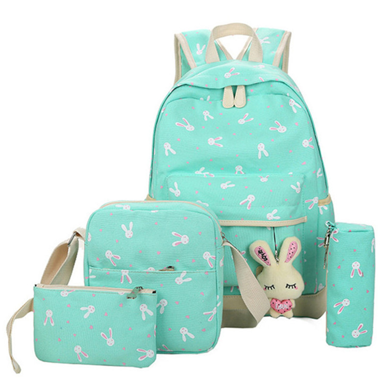 School Bags for Teenagers Girls Schoolbag Large Capacity Ladies Printing School Backpack Set Rucksack Bagpack Cute Book Bags Рюкзак