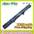 Apexway 2200 mah 14.4 v batería del ordenador portátil para asus x451 x551 x451c x451ca x551c x551ca 0b110-00250100 a41n1308 a31n1319 4 células