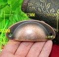 30 unids acero cobre antiguo gabinete Simple Shell Style armario armario tirones del cajón manijas