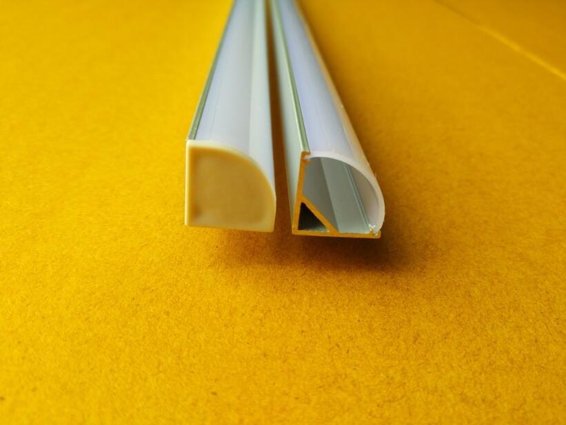 Free Shipping 2m/pcs 160m/lot Aluminium Corner Profiles Housing for LED Strip Lights Under Cabinet lights Easy Installation
