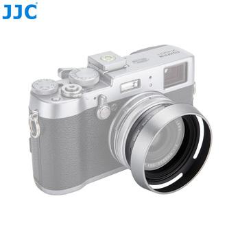 Kamera metalowa osłona przeciwsłoneczna adapter śrubowy pierścień 49mm dla FUJIFILM X100V X100F X100T X100S X100 X70 zastąpić Fujifilm LH-X100 i AR-X100 tanie i dobre opinie Fujitsu LH-JX100 Series LENS HOOD ADAPTER RING Aluminum Black Silver 6 0*5 0*2 0cm 8 5*8 5*3 9cm Screw FUJIFILM X100F X70 X100 X100S X100T