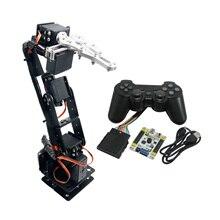 6DOF Aluminium Robot Arm Clamp Claw Mount kit Mechanical Robotic Arm & MG996R Servos & 32CH Controller for Arduino DIY