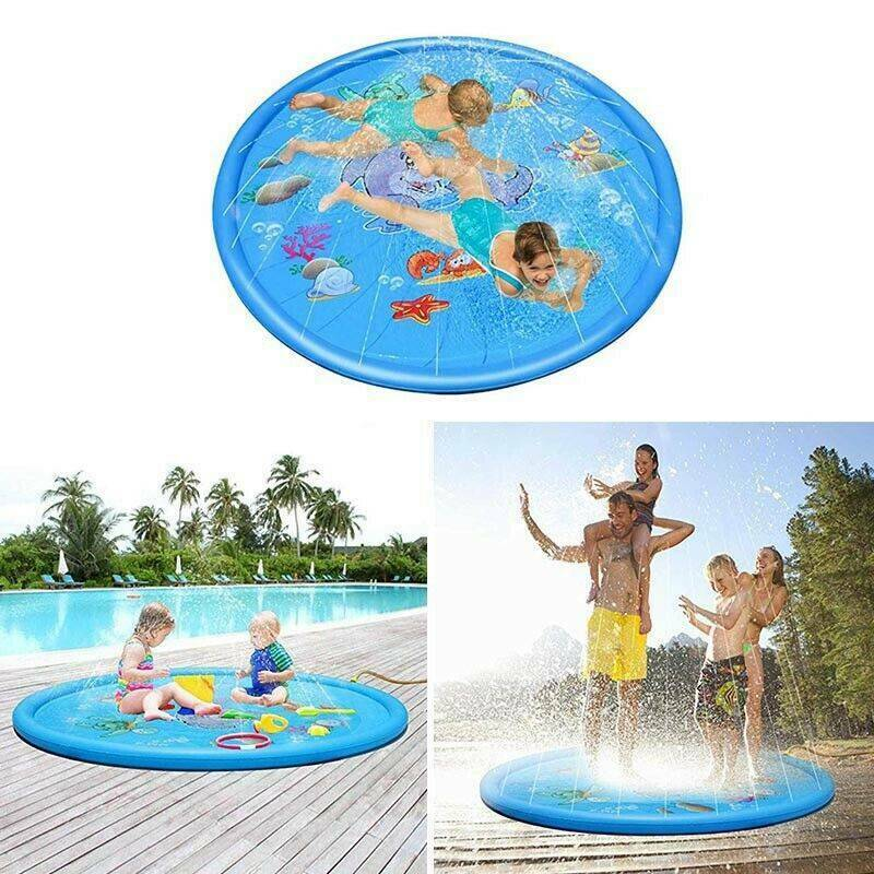 170cm Free Shipping Summer Outdoor Inflatable Kids Water Splash Play Mat Summer Garden Gaming Sprinklers Cushion Toys Fun Toys