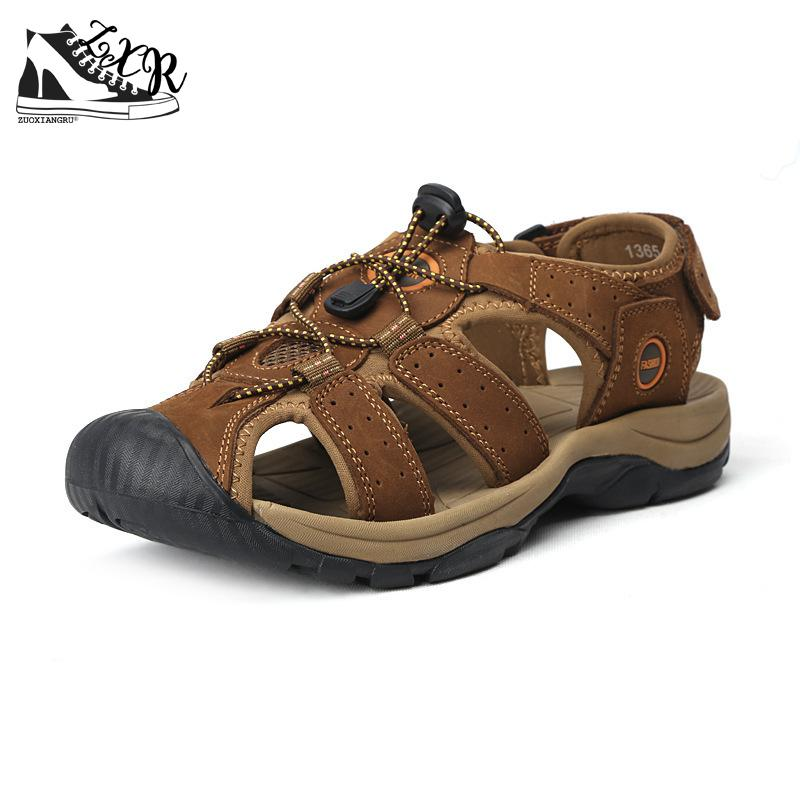Brand Genuine Leather Shoes Summer New Large Size Mens Sandals Men Sandals Fashion Sandals And Slippers Big Size 38-47