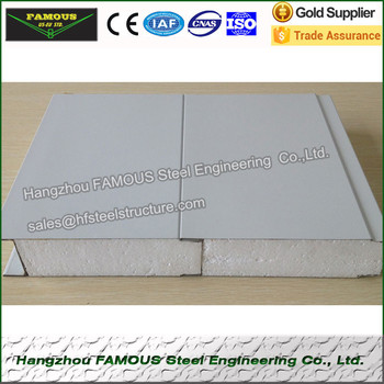 Fixed Dimension EPS Sandwich Wall Panels For Warehouse and Industrial Building