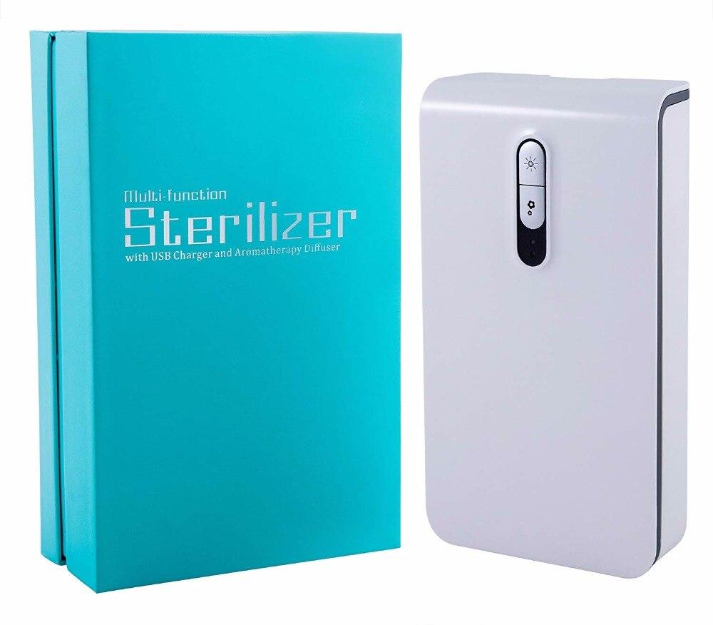 Smart Phone UV Disinfettante Luce UV Portatile Del Telefono Delle Cellule Sterilizzatore Cleaner Funzione di Aromaterapia Disinfezione con il basamento per i telefoni
