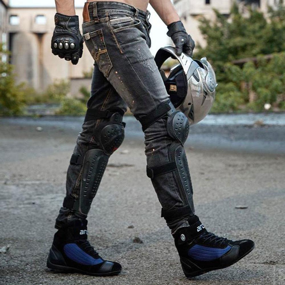 ARCX Moto bottes hommes Moto bottes d'équitation été respirant Moto chaussures Moto Chopper Cruiser Touring cheville chaussures # - 5