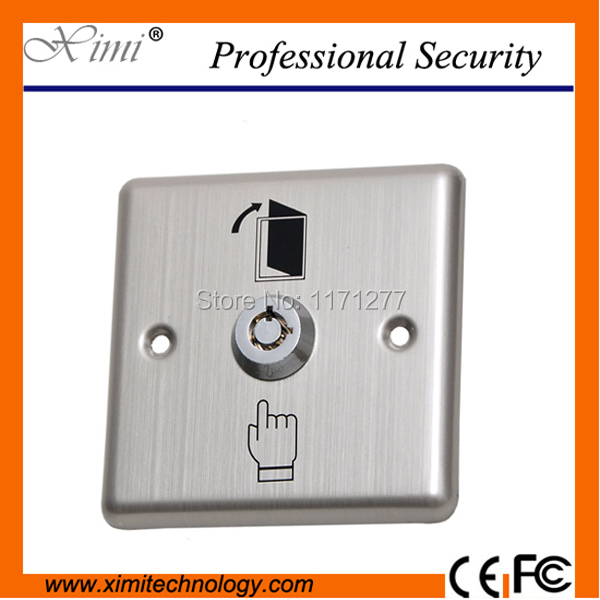 цена на Good quality access control stainless steel panel with key exit swich emergency switch button