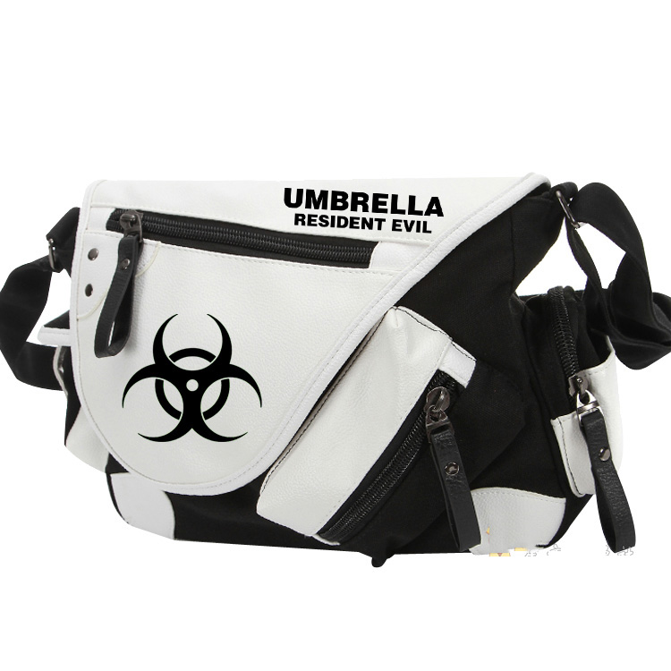 Umbrella Resident Evil Canvas Casual Zipper Boys Girls Shoulder Bag Crossbody Bags Schoolbags Messenger Bag