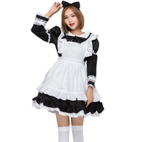Sexy Japan Maid Costume Sweet Gothic Lolita Dress Anime Cosplay Sissy Maid Uniform Plus Size Halloween Costumes For Women Child