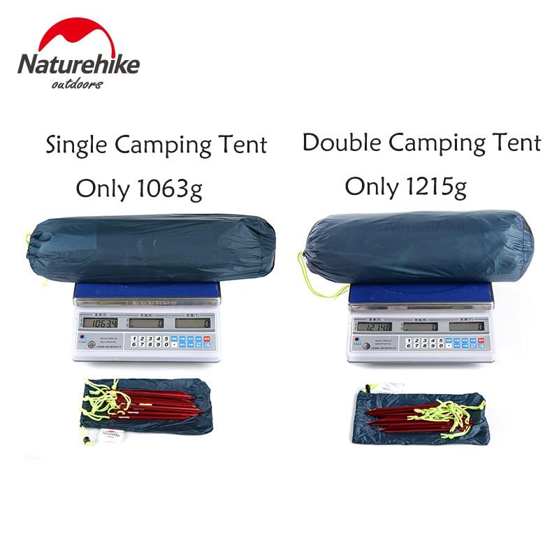 Naturehike Tent 1.4-1.6 Kg Ultralight Tagar Camping Tent 20D Nylon Silicone Outdoor Hiking Tent PU4000mm NH17T140J barraca tenda