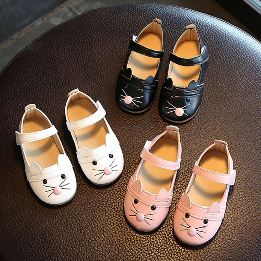 TELOTUNY  Kids Baby Girl Fashion Princess Cat Dance Nubuck Leather Single Shoes For Girl  Casual Shoes V1156