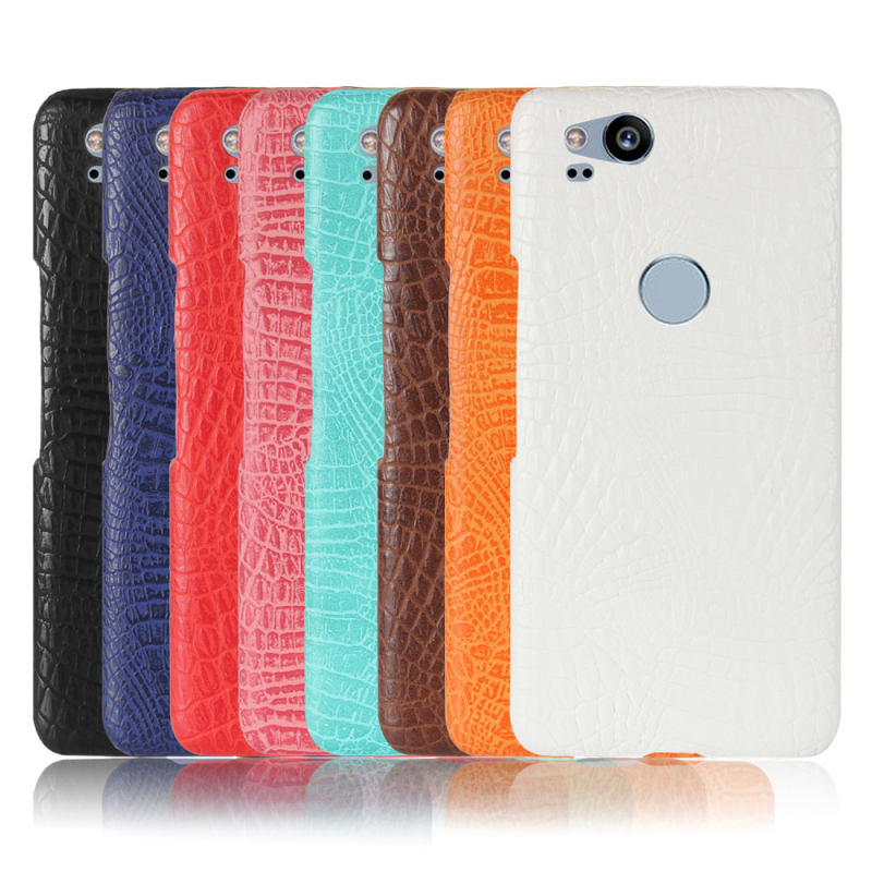 Case For Google Pixel 2 Phone Cases Luxury Crocodile PU Leather + PC Hard Back Cover For Google Pixel 2XL 2 XL Case