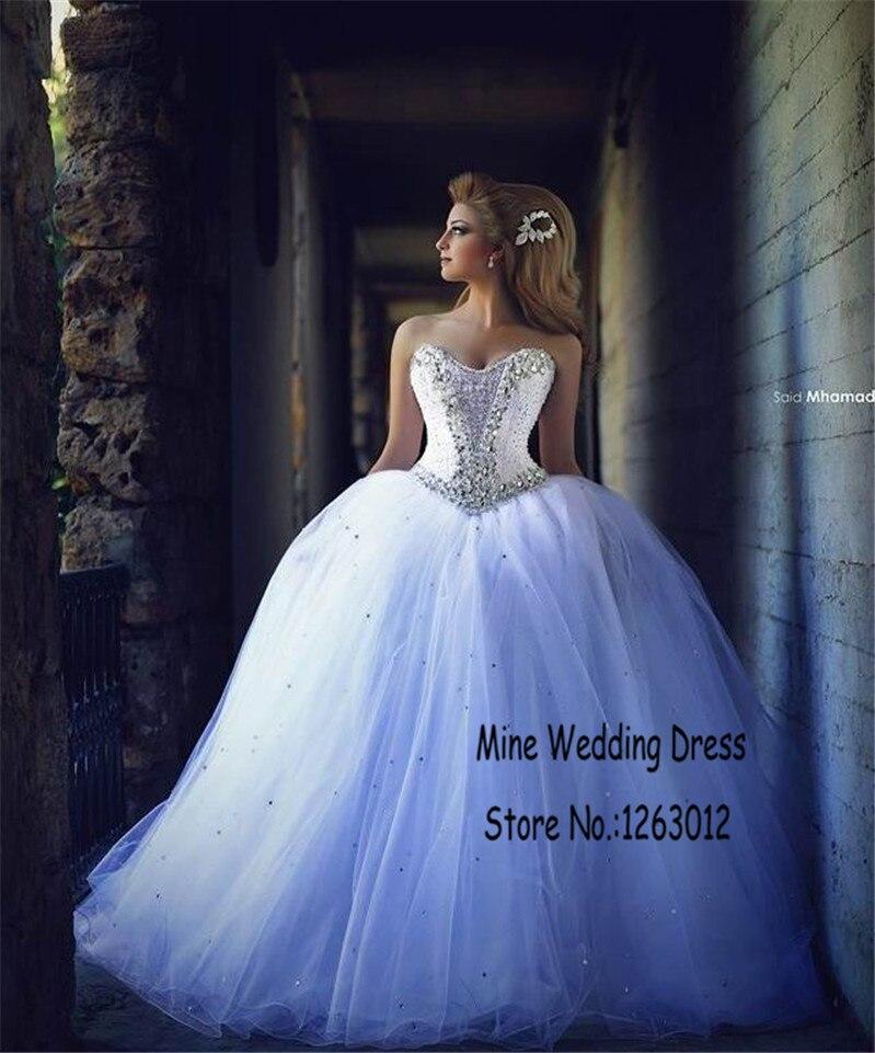 Popular White Sparkle Ball Gown Wedding Dress-Buy Cheap White ...