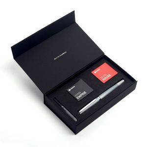 Image 5 - Jinghao KACO BALANCE Series Charming สีแดงเงินคลิป Fountain Pen 0.5mm F Nib หมึกปากกาสำหรับสำนักงานคริสต์มาสของขวัญ