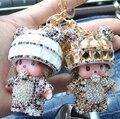 Envío Libre GRANDE MONCHHICHI MONCHICHI muñeca colgante llavero llavero precioso regalo para el amigo de muchacha mujer del encanto del bolso llaveros