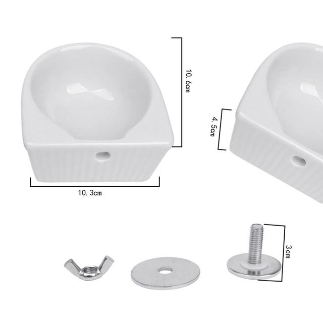 Creative Ceramic Hanging Pet Food Bowl Non-Slip Anti-Turn Hamster Bowl Pet Feeder Bowl For Chinchill Gerbil Pet Feeding Supplies 2