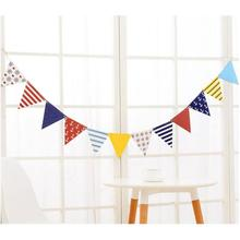 12 Flags 2m Pirate Theme Garland  paperboard Flags Banner Garland Wedding/Birthday/Baby Shower Party Decoration K2