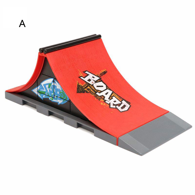 1 Piece Hot Sale 6 Styles Skate Park With Fingerboard Ramp Parts For Fingerboard Finger Skateboards TechDeck Toys For Kids