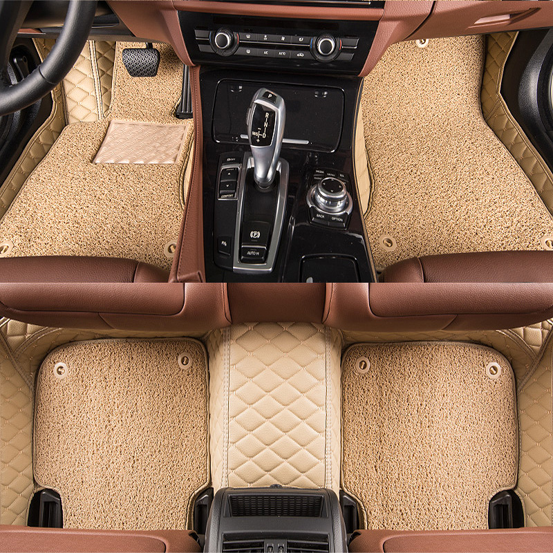 TENGRUI Custom Car Floor Mats for JAGUAR XF XE XJ F PACE Car Accessories Auto Floor Mat Carpets in The Car Trunk Mat Vase 2114