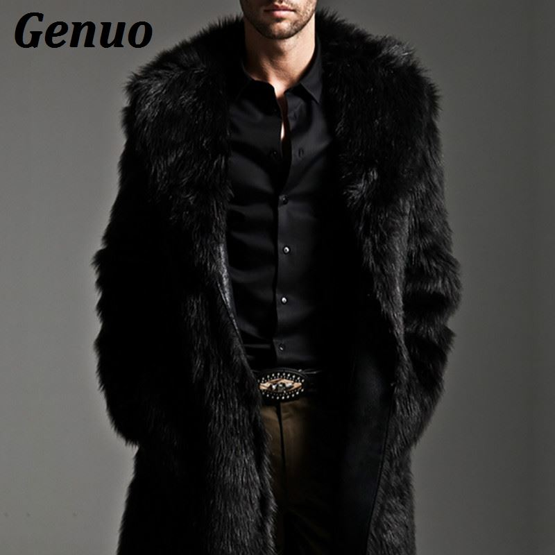 Men/'s Coat Winter Faux Fur Warm Coat Parka Male Fashion Jacket Overcoats Clothes