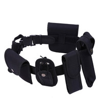 Man Outdoor Tactical Hunting Belt Duty Utility Kit Belt With Pouches System Holster Training Security Guard
