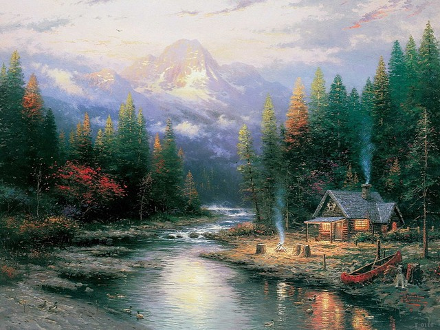 Aliexpress Com Buy Thomas Kinkade The End Of A Perfect