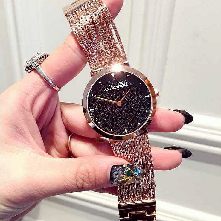 Mashali 2019 Women Watch Luxury Crystal Bracelet Watch