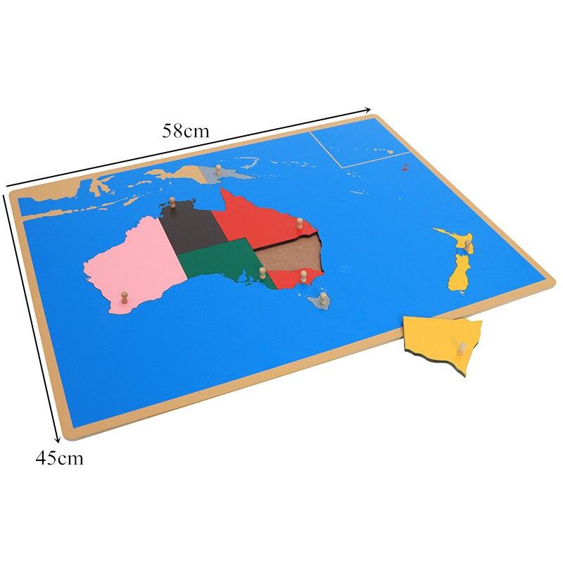 Jouet pour bébé Montessori Puzzle australie carte apprentissage et éducation éducation de la petite enfance jouets pour enfants Brinquedos Juguetes - 3