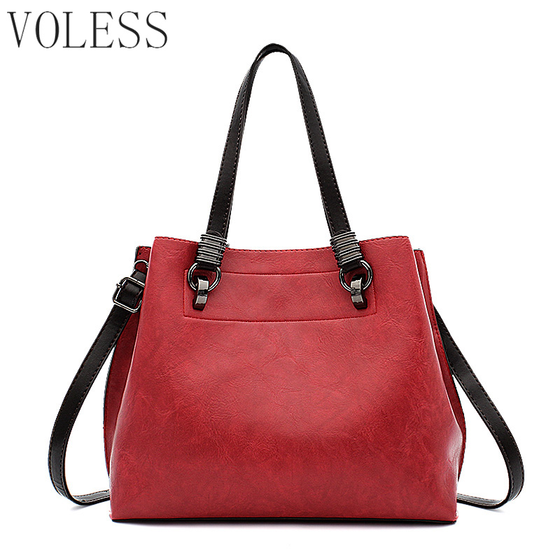Large Capacity  Women Casual Tote Bags High Quality Pu Leather Handbag Shoulder Bags Famous Brand Crossbody Bag For Women sac weiju new canvas women handbag large capacity casual tote bag women men shoulder bag messenger crossbody bags sac a main