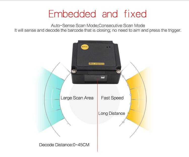 incorporado scanner módulo ep2000 frete grátis usb2.0 rs232 interface usb