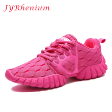 JYRhenium 2017 New Running Shoes Breathable Mesh Women Sneakers Lace up Sport Shoes Comfortable Female Sneaker