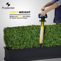 PROSTORMER 20V 2000mAh Hedge Trimmer Lithium ion Cordless Rechargeable Weeding Hedge Shear Household Pruning Mower Garden Tools