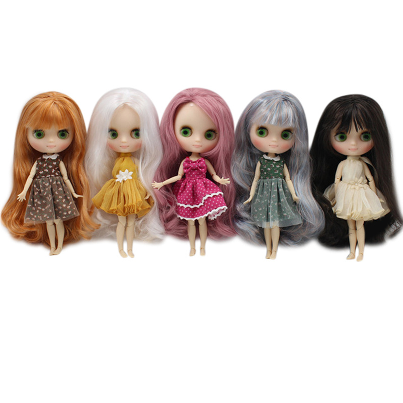 Middie 1 8 blyth nude doll matte face series joint body 20cm DIY toys gift with