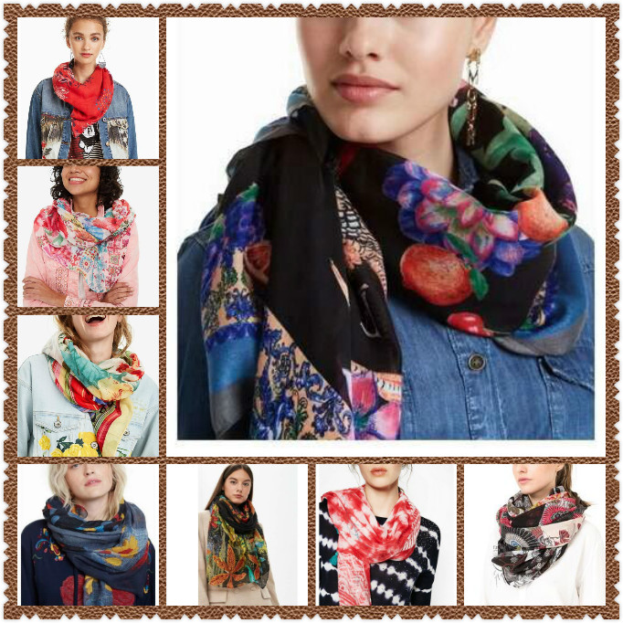 Soft Polyester Silk Scarf Girls Fashion Print Beautiful Gift Christmas Card Women Square Scarf Square Fashion Scarf Lightweight Scarfs For Women Multiple Ways Of Wearing Daily Decor